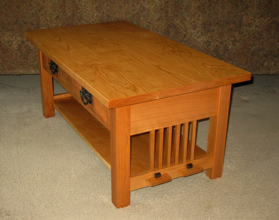 Mission cherry coffee table page for Coffee tables 36 wide